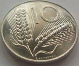 Moneda 10 Lire - ITALIA, anul 1976 Cod 3740 UNC, America de Nord, Aluminiu