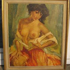 Nud de tiganca tablou canvas pe panza inramat 58x67cm - Reproducere