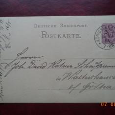 1884 Germania ( Reich ) - CP circulata.
