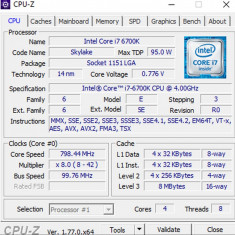 Kit 1151 cu i7-6700k + MSI H110M PRO-D + 16GB DDR4 - testare 72h inaintea platii Intel