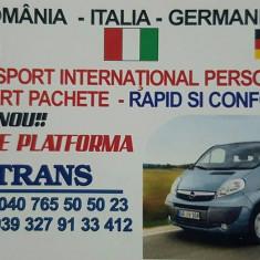 Transport persoane, pachete si masini pe platforma