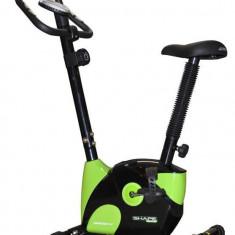Bicicleta Fitness Magnetica, Axer, Fit, Negru-Verde