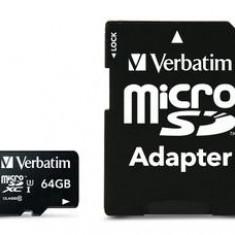 Verbatim Pro microSDXC U3 64GB with adapter - Card memorie
