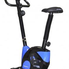Bicicleta Fitness Magnetica, Axer, Fit, Pedale Anti-Alunecare, Negru-Albastru