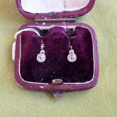 LICHIDEZ COLECTIE- CERCEI ANTICI CU BRILIANTE - Cercei cu diamante