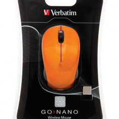 Verbatim Wireless Laser GO Nano Mouse Orange