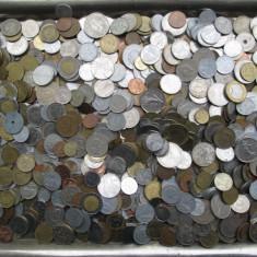 Lot (1) mare 1000 monede vechi romanesti si straine, monezi bani diverse tari - Moneda Romania