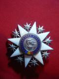 Decoratie Meritul Cultural cl.IIIa ,d= 5,2 cm , metal si email