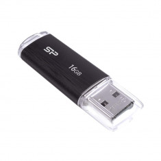 SP USB 2.0, Ultima U02 16GB, black Silicon Power