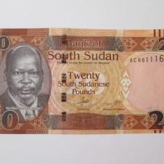Sudanul de Sud/South Sudan 20 Pounds 2015 UNC