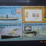 1989 Marshall Islands Mi 226 - 229 Nave, serie completa. - Timbre straine, Nestampilat