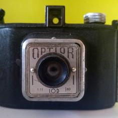 Aparat foto vechi Optior (IOR) obiectiv menisc IOR 1:11 cu rola film 120 - Aparat de Colectie