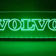 Emblema Volvo Led pentru cabina prindere interioara pe parbriz led 5 w 12/24v Verde - Camion