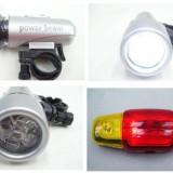 Lanterna si stop cu semnalizatoare cu suport de prindere pentru bicicleta Safeguard