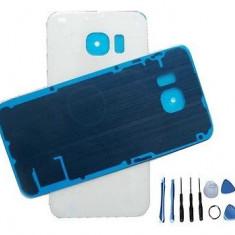 Geam baterie Samsung Galaxy S6 Edge alb - Capac baterie