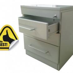 CASETIERA METALICA MOBILA CU 3 SERTARE, Blat metal 530x530x618 mm (LxlxH), ECO+