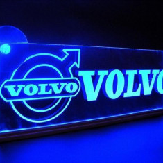 Emblema Volvo Led pentru cabina prindere interioara pe parbriz led 5 w 12/24v Albastru - Tuning camioane