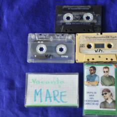 Lot 5 casete audio vechi divertisment, umor: Vacanta Mare - Muzica Pop