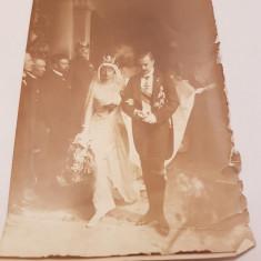 Spania 1913 fotografie regele manuel si sotia sa, Alb-Negru, Monarhie, Europa