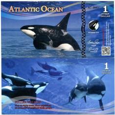 OCEANUL ATLANTIC- 1 DOLLAR 2016- UNC!! - bancnota america