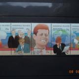 1988 Marshall Islands Mi 194 - 198 Kennedy, serie completa. - Timbre straine, Nestampilat