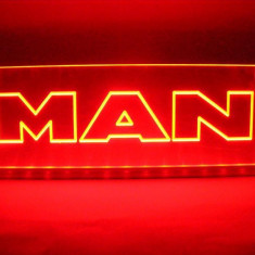 Emblema Man Led pentru cabina prindere interioara pe parbriz led 5 w 12/24v Rosu - Camion