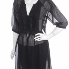 Tunica /Camasa neagra Asos - Camasa dama, Marime: L, Culoare: Negru
