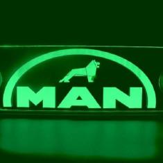 Emblema Man Led pentru cabina prindere interioara pe parbriz led 5 w 12/24v Verde - Camion