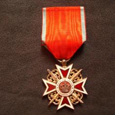 Decoratie militara romaneasca Coroana Romaniei/colectie/decor/militaria