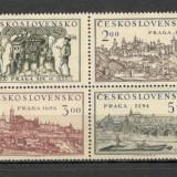 Cehoslovacia.1950 Expozitia filatelica PRAGA bloc 4 CC.205, Nestampilat