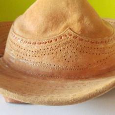 Palarie Gaucho originala braziliana, piele veritabila, sombrero vaquero, etno - Palarii Barbati