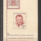 Cehoslovacia.1948 52 ani nastere K.Gotwald:presedinte-Bl. CC.202, Nestampilat