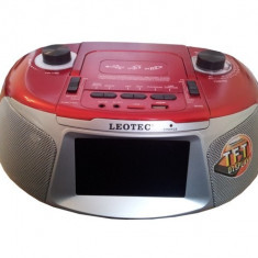 Player audio cu display TFT si FM, USB, TF, TV Leotec