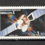 Franta.1984 Satelitul de telecomunicatii TELECOM 1 SF.632.5 - Timbre straine, Nestampilat