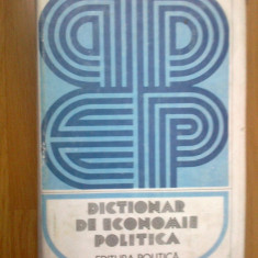 N5 Dictionar de economie politica - Carte Economie Politica