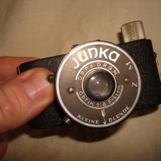 Aparat foto/fotografic GERMAN vechi/ colectie/decor functional JUNKA D.R.P. - Aparat de Colectie