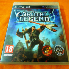Joc Brutal Legend, PS3, original, alte sute de jocuri! - Jocuri PS3 Sony, Simulatoare, 12+, Single player