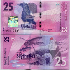 SEYCHELLES- 25 RUPEES ND 2016- NEW- UNC!!