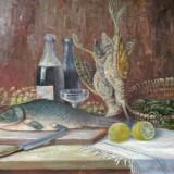 NATURA STATICA SEMNATA KUSOVSKI - Pictor roman, Ulei, Realism