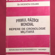 Primul razboi mondial : repere de cronologie militara / Vicentiu Cojan - Istorie