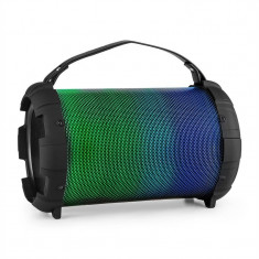 Auna DR. BANG cu LED-uri, negru, 2.1-difuzor-BT, 20 W, RMS, USB, micro SD, AUX, acumulator și LED-uri
