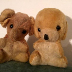 M- Lot 2 jucarii plus vechi, vintage, anii '70, caine si elefant Made in China