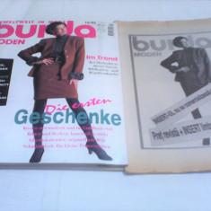 REVISTA MODA BURDA MODEN NR.10/1995 CU TIPARE GERMANA+INSERT LIMBA ROMANA