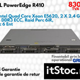 DELL PowerEdge R410, 2 x Intel QC Xeon E5620 2.4 GHz, 8 GB DDR3-Garantie 1 Ani