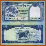 !!!  NEPAL -  50  RUPII 2012  - P 72 - UNC  / RASTRA  BANK