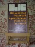 """Serban Beligradeanu - Raspunderea materiala a persoanelor incadrate ... """"A2227"""""""