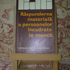 Serban Beligradeanu - Raspunderea materiala a persoanelor incadrate ...