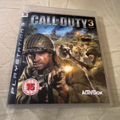 Call of Duty 3, PS3, original, alte sute de jocuri! - Jocuri PS3 Sony, Shooting, 18+, Single player