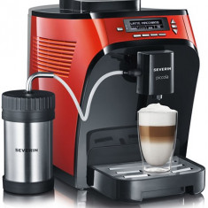 Expressor 15bari Red, Rosu cu rasnita cafea Expresor Severin Piccola, Cappuccino - Espressor, Automat