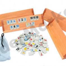 Set Joc Rummy Remi cu placi din lemn masiv 33cm - Jocuri Logica si inteligenta